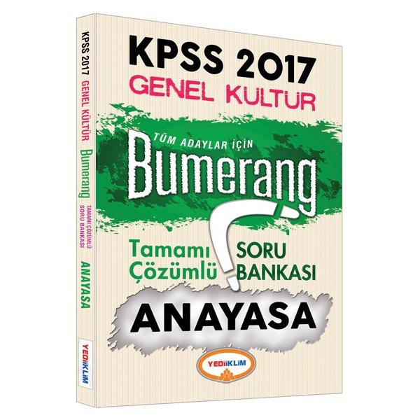 2017 KPSS Bumerang Anayasa Tamamı Çözümlü Soru Bankası Yediiklim Yayınları