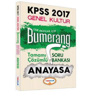 2017 KPSS Bumerang Anayasa Tamam� ��z�ml� Soru Bankas� Yediiklim Yay�nlar�