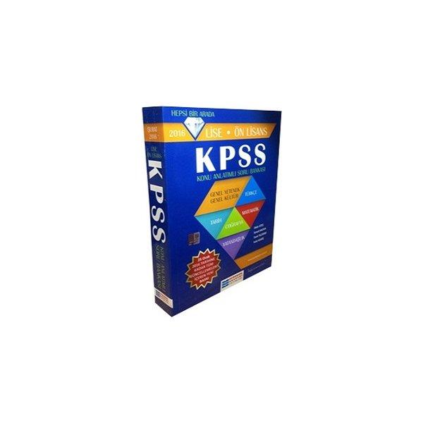 Evrensel İletişim Yayınları 2016 KPSS Lise Ön Lisans Konu Anlatımlı Soru Bankası
