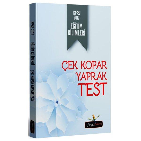 2017 KPSS Eğitim Bilimleri Çek Kopar Yaprak Test Beyaz Kalem Yayınları