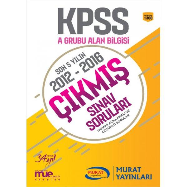 2018 KPSS A Çıkmış Sınav Soruları Alan Bilgisi Murat Yayınları