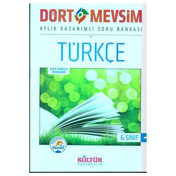 6. Sınıf Dört Mevsim Türkçe Soru Bankası Kültür Yayıncılık
