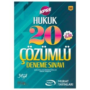2017 KPSS A Grubu Hukuk ��z�ml� 20 Deneme S�nav� Murat Yay�nlar�