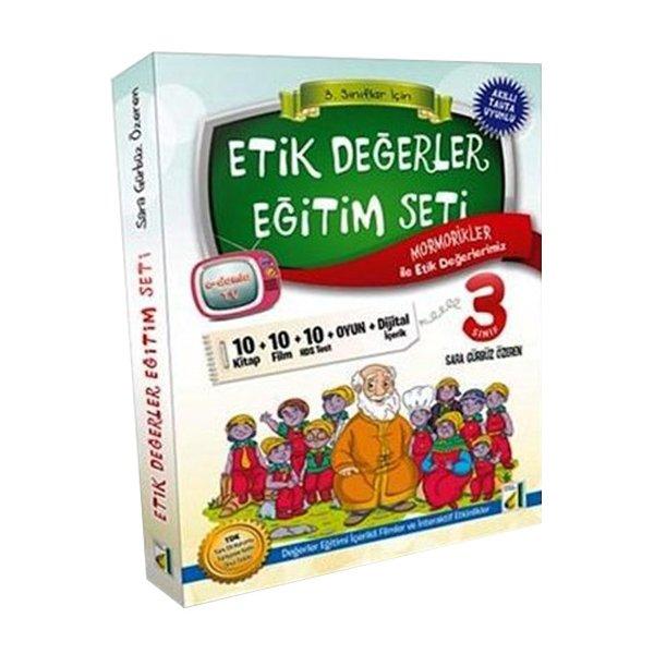 3. Sınıf Etik Değerler Eğitim Seti - 10 Kitap Damla Yayınları