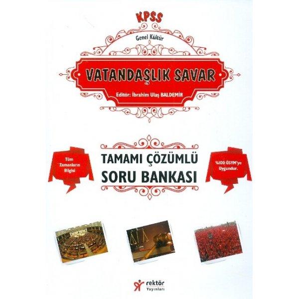 Rektör Yayınları KPSS 2017 Vatandaşlık Savar Tamamı Çözümlü Soru Bankası