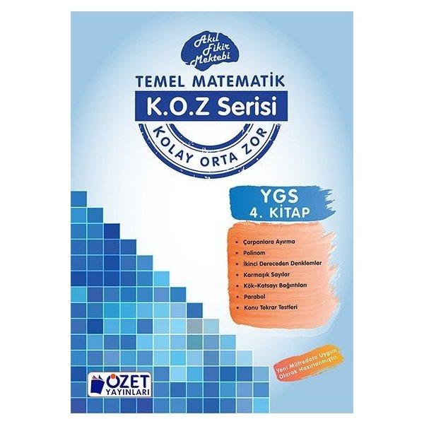 Özet Yayınları YGS Matematik KOZ Serisi 4. Kitap