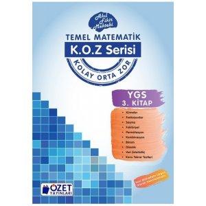 �zet Yay�nlar� YGS Matematik KOZ Serisi 3. Kitap