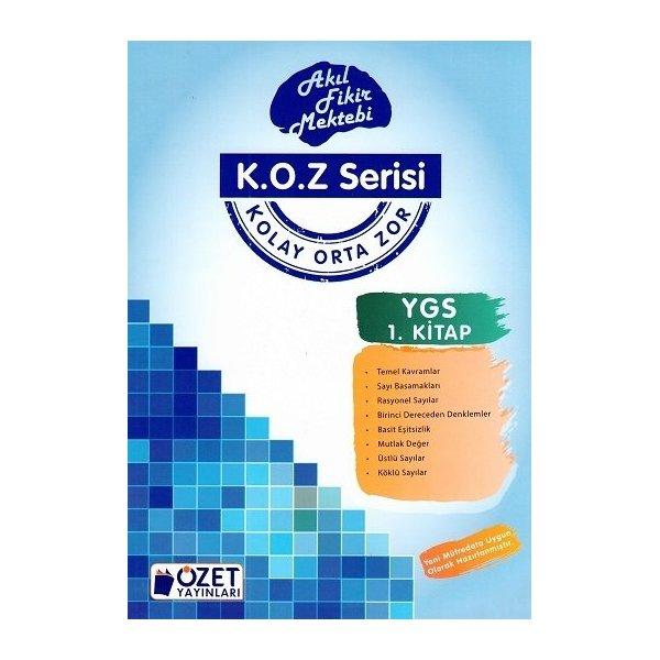 Özet Yayınları YGS Matematik KOZ Serisi 1. Kitap