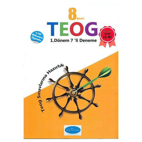 8. Sınıf TEOG 1. Dönem 7 Deneme RTY Rota Yayınları