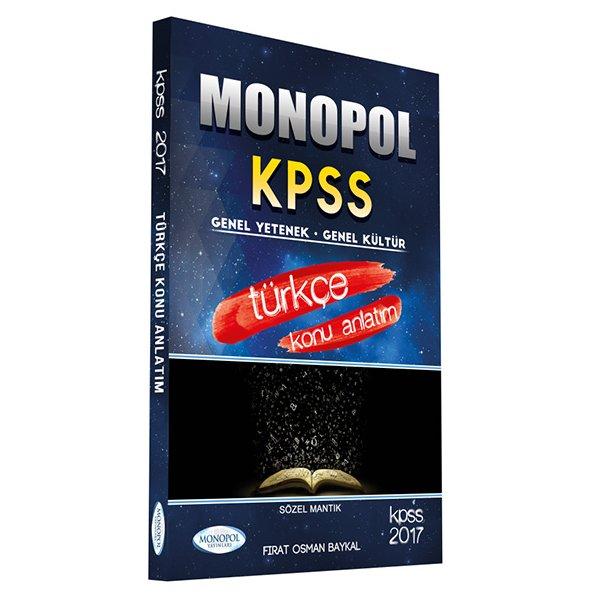 2017 KPSS Türkçe Konu Anlatımlı Monopol Yayınları