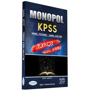2017 KPSS T�rk�e Konu Anlat�ml� Monopol Yay�nlar�