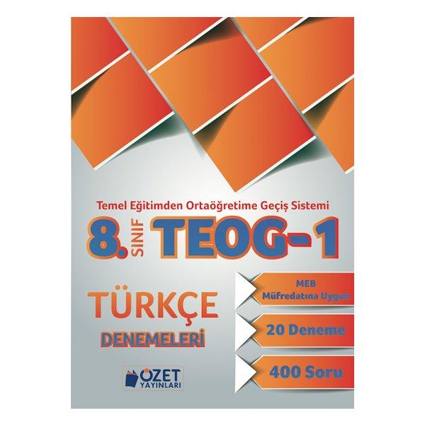8. Sınıf TEOG 1 Türkçe 20 Deneme Özet Yayınları