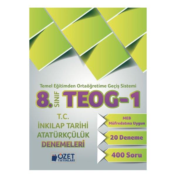 8. Sınıf TEOG 1 T.C İnkılap Tarihi Atatürkçülük 20 Deneme Özet Yayınları