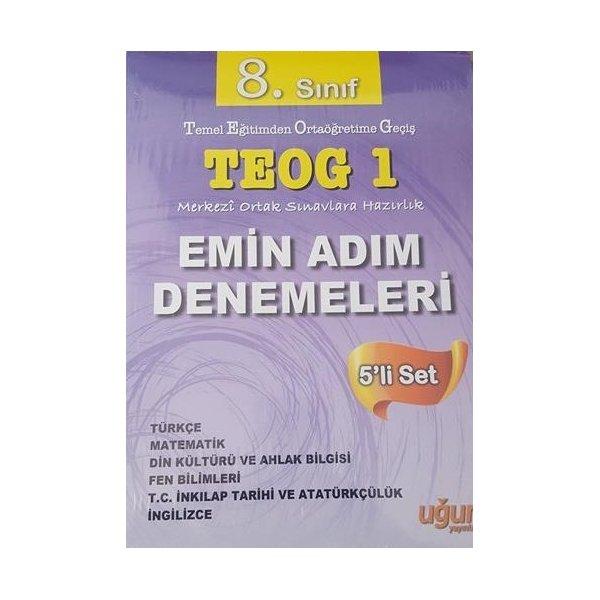 Uğur Yayınları 8. Sınıf TEOG 1 Emin Adım Denemeleri 5 li Set