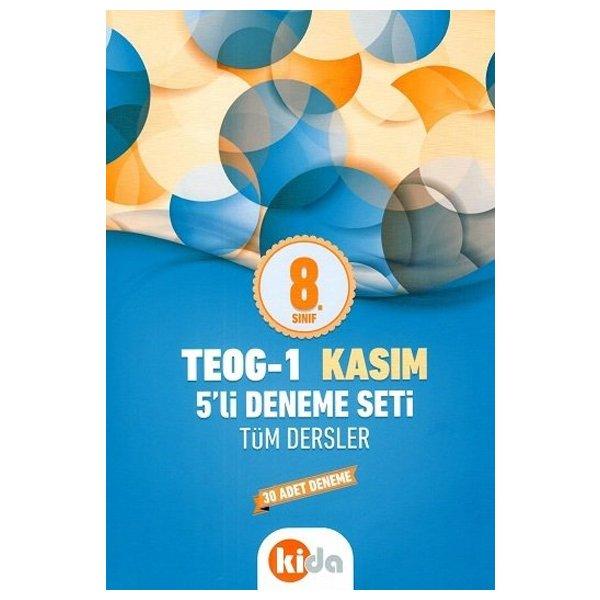 8. Sınıf TEOG 1 Kasım Tüm Dersler 5 Li Deneme Seti Kida Eğitim Yayınları