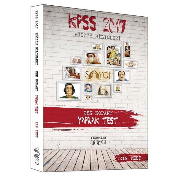 2017 KPSS Eğitim Bilimleri Çek Kopar Yaprak Test Yediiklim Yayınları