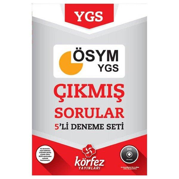 YGS Çıkmış ÖSYM Soruları 5 Deneme Seti (DVD Çözümlü) Körfez Yayınları