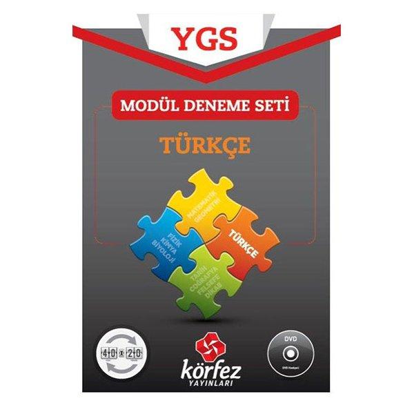 YGS Türkçe 40x20 Modül Deneme Seti (DVD Çözümlü) Körfez Yayınları