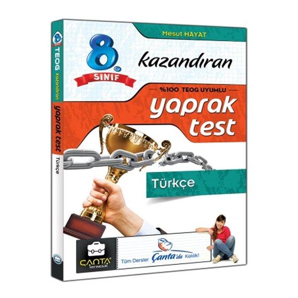 8. Sınıf TEOG Türkçe Kazandıran Çek Kopar Yaprak Test Çanta Yayınları