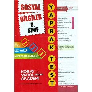6. S�n�f Sosyal Bilgiler Yaprak Test Koray Varol Akademi
