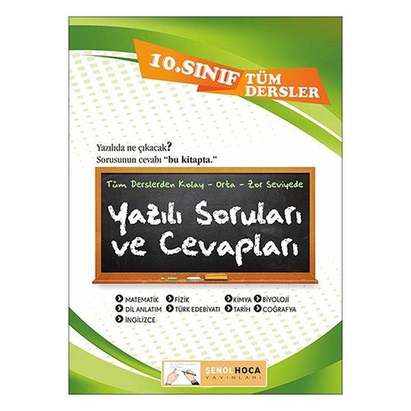 10. Sınıf Tüm Dersler Yazılı Soruları ve Cevapları Şenol Hoca Yayınları