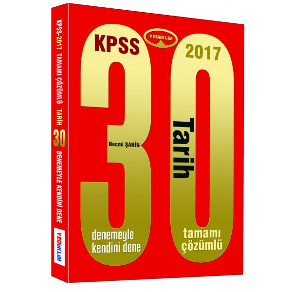 2017 KPSS Tarih 30 Çözümlü Deneme Sınavı Yediiklim Yayınları