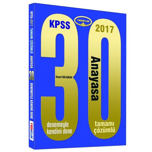 2017 KPSS Anayasa 30 Çözümlü Deneme Sınavı Yediiklim Yayınları