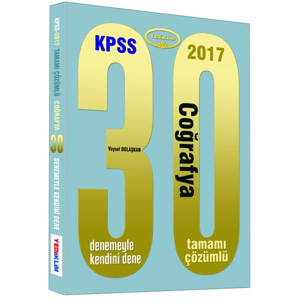 2017 KPSS Coğrafya 30 Çözümlü Deneme Sınavı Yediiklim Yayınları
