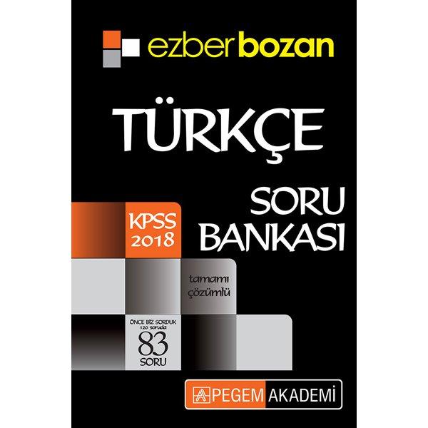2018 Kpss Türkçe Ezberbozan Tamamı çözümlü Soru Bankası Pegem Yayınları