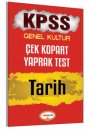 2017 KPSS Tarih Çek Kopart Yaprak Test Yediiklim Yayınları