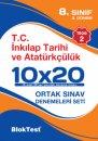 8. Sınıf TEOG 2 Nisan T.C İnkılap Tarihi ve Atatürkçülük 10x20 Denemeleri Seti Blok Test Yayınları