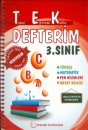 Palme 3. Sınıf TEK Defterim Test ve Sınav Ekli