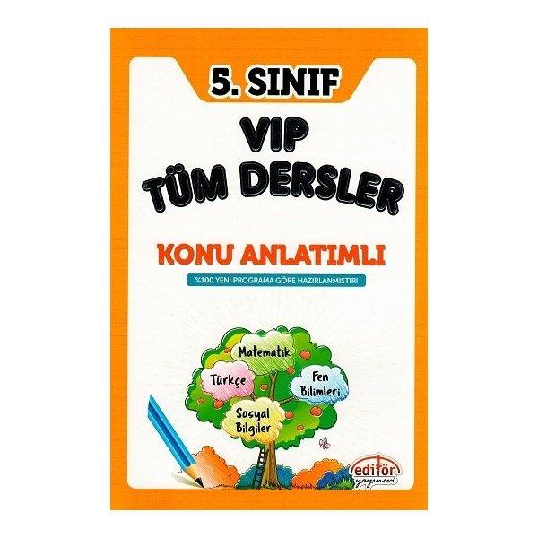 Editör 5. Sınıf VIP Tüm Dersler Konu Anlatımlı Kitap