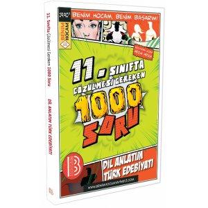Benim Hocam Yayınları Dil Anlatım Türk Edebiyatı 11. Sınıfta Çözülmesi Gereken 1000 Soru