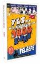 YGS den Önce Çözülmesi Gereken Felsefe 1000 Soru Benim Hocam Yayınları