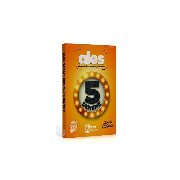2017 ALES Tamamı Çözümlü 5 Deneme İsem Yayıncılık