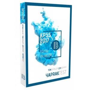 2017 KPSS Eğitim Bilimleri Tüm Dersler Yaprak Test Benim Hocam Yayınları