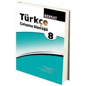 Berkay Yayıncılık 8. Sınıf Türkçe Çalışma Günlüğü