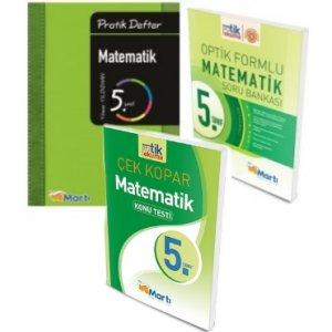 5.Sınıf Matematik Defteri ve Soru Bankası Seti Yaprak Test Hediyeli Martı Okul Yayınları