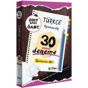 2017 ÖABT Türkçe Öğretmenliği Çözümlü 30 Deneme Öabt Okulu Yayınları