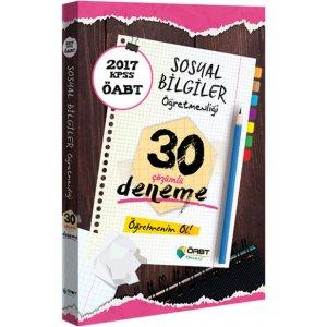 2017 ÖABT Sosyal Bilgiler Öğretmenliği Çözümlü 30 Deneme Öabt Okulu Yayınları