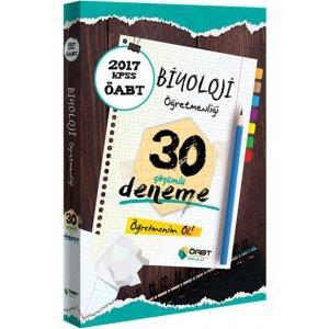 2017 ÖABT Biyoloji Öğretmenliği Çözümlü 30 Deneme Öabt Okulu Yayınları