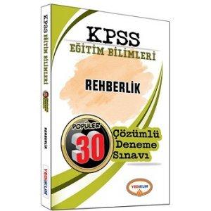 Yediiklim Yayınları 2017 KPSS Eğitim Bilimleri Rehberlik Psikolojisi Çözümlü 30 Deneme Sınavı