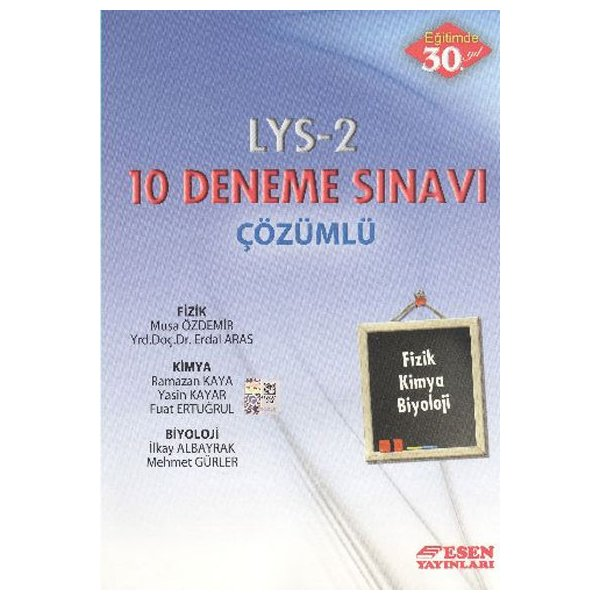 Esen Yayınları LYS-2 Çözümlü 10 Deneme Sınavı
