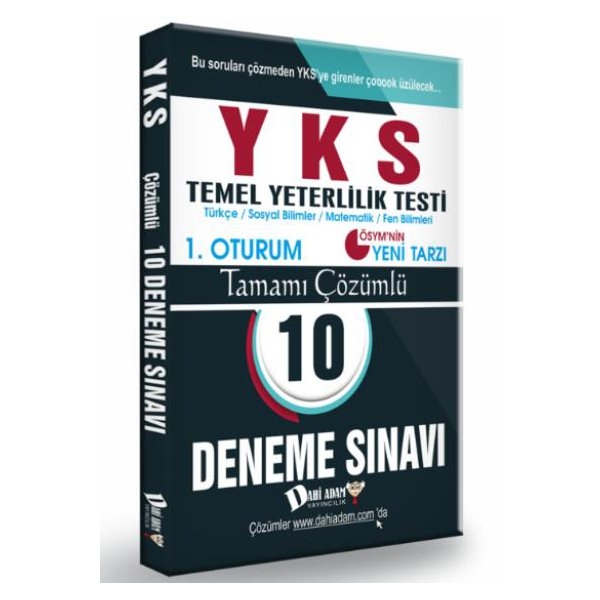 YKS TYT Tamamı Çözümlü 10 Deneme Sınavı Dahi Adam Yayınları