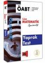 2018 ÖABT Olasılık Lise Matematik Öğretmenliği Yaprak Test Yargı Yayınları