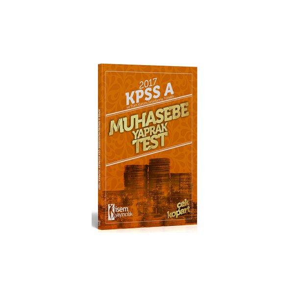 İsem Yayıncılık 2017 KPSS ve Tüm Kurum Sınavlarına Yönelik Muhasebe Yaprak Test