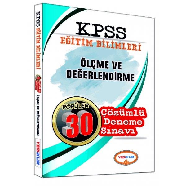 Yediiklim Yayınları 2017 KPSS Eğitim Bilimleri Ölçme ve Değerlendirme Çözümlü 30 Deneme Sınavı
