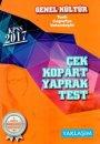 Yaklaşım Kariyer Yayınları 2017 KPSS Genel Kültür Tarih Coğrafya Vatandaşlık Çek Kopart Yaprak Test
