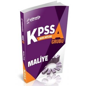Yükseliş Kariyer Yayınları 2017 KPSS A Grubu Maliye Ders Notları